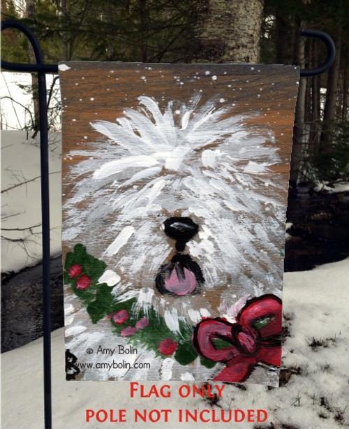 """Christmas Traditions"" Old English Sheepdog Garden Flag"