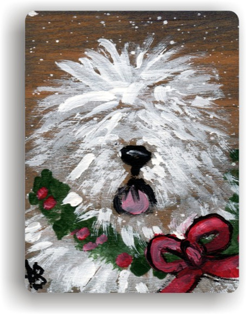 """Christmas Traditions"" Old English Sheepdog Magnet"