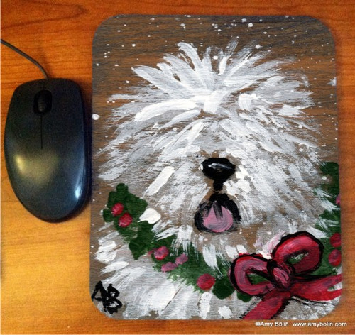 """Christmas Traditions"" Old English Sheepdog Mouse Pad"