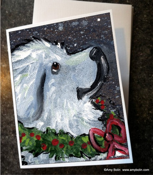 """""""Christmas Traditions"""" Great Pyrenees Note Cards"""