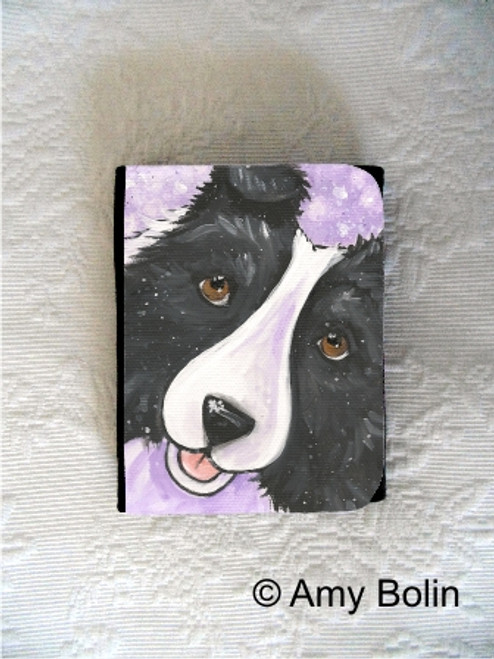 """Wish Upon A Snowflake"" Bi Black Shetland Sheepdog Small Organizer Wallet"
