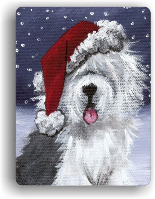 """Shaggy Claws"" Old English Sheepdog Magnet"