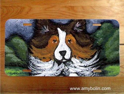"""Agility Queen"" Sable Shetland Sheepdog License Plate"