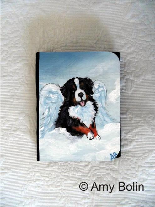 """My Sweet Angel"" Bernese Mountain Dog Small Organizer Wallet"