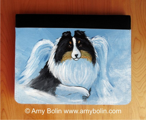 """""""My Sweet Angel"""" Tri Color Shetland Sheepdog Notebooks (several sizes available)"""