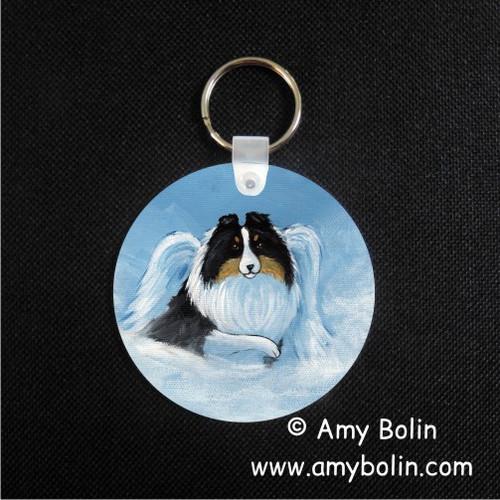 """My Sweet Angel"" Tri Color Shetland Sheepdog Keychain"