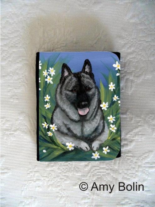 """""""Daisies 1"""" Norwegian Elkhound Small Organizer Wallet"""