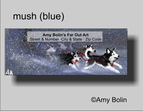 """Mush"" Siberian Husky (blue eye) Address Labels"