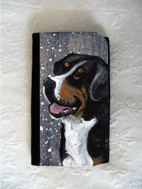 """Swissy"" Greater Swiss Mountain Dog Large Organizer Wallet"