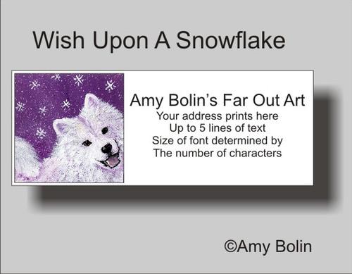 """Wish Upon A Snowflake"" Samoyed Address Labels"