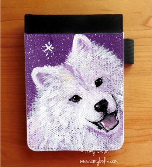 NOTEBOOKS (SEVERAL SIZES AVAILABLE) · WISH UPON A SNOWFLAKE · SAMOYED · AMY BOLIN