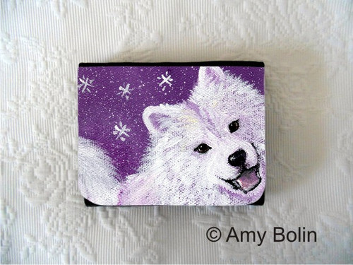 SMALL ORGANIZER WALLET · WISH UPON A SNOWFLAKE · SAMOYED · AMY BOLIN