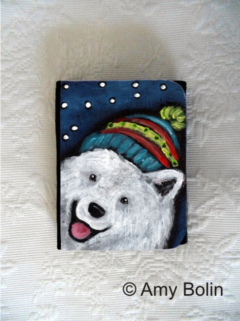 SMALL ORGANIZER WALLET · SNOWY WEATHER · SAMOYED · AMY BOLIN