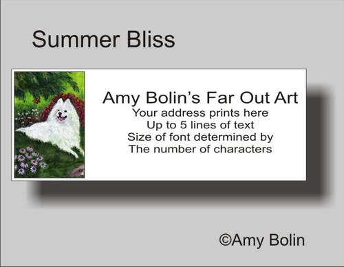 """""""Summer Bliss"""" Samoyed Address Labels"""