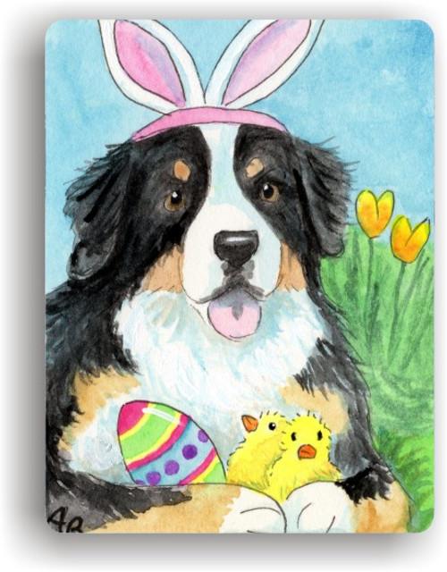 """Easter Bernie"" Bernese Mountain Dog Magnet"