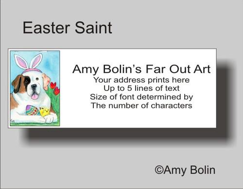 """Easter Saint Half Mask"" Saint Bernard Address Labels"