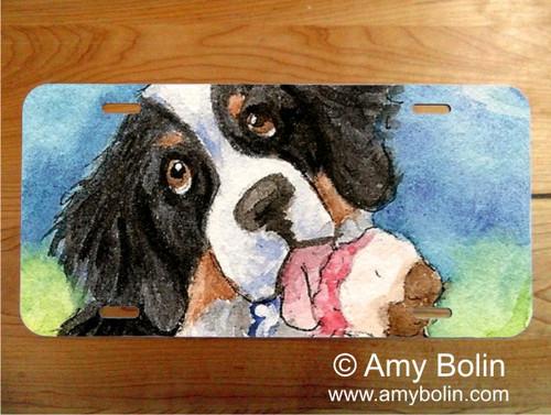 LICENSE PLATE · MAKE MINE NEAPOLITAN · BERNESE MOUNTAIN DOG · AMY BOLIN