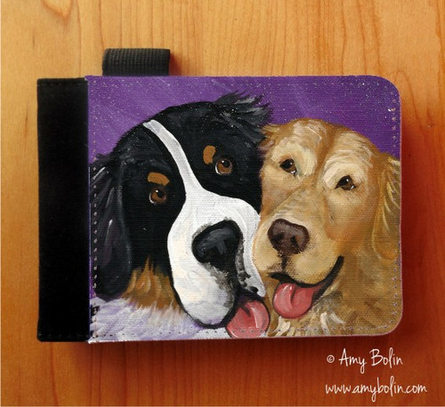 """Be Mine"" Bernese Mountain Dog & Golden Retriever Notebooks (several sizes available)"