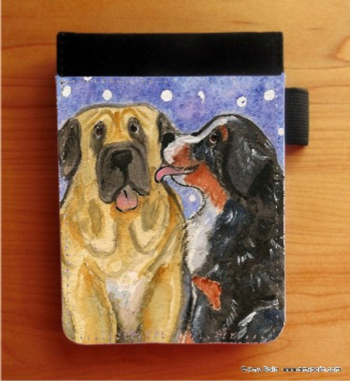 """""""Little Kiss"""" Bernese Mountain Dog & Mastiff Notebooks (several sizes available)"""