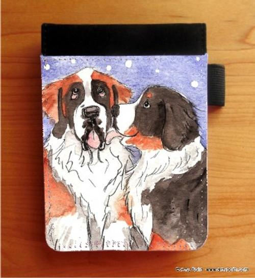 """Little Kiss"" Bernese Mountain Dog & Saint Bernard Notebooks (several sizes available)"