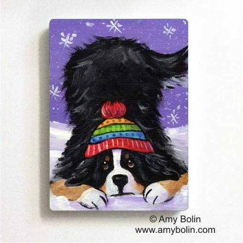 """Playful Pup"" Bernese Mountain Dog Magnet"