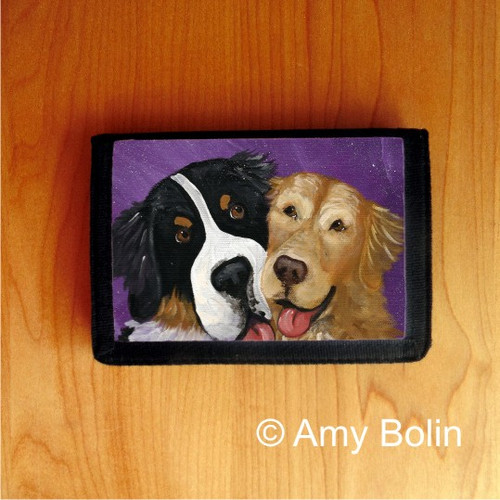 TRIFOLD WALLET · BE MINE · BERNESE MOUNTAIN DOG, GOLDEN RETRIEVER · AMY BOLIN