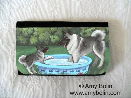 """Summer's Simple Pleasures"" Norwegian Elkhound Large Organizer Wallet"