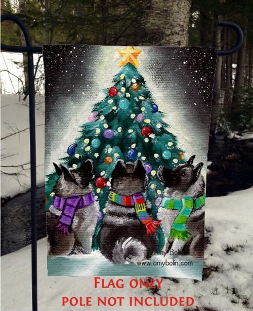 GARDEN FLAG · CHRISTMAS TOGETHER · NORWEGIAN ELKHOUND · AMY BOLIN