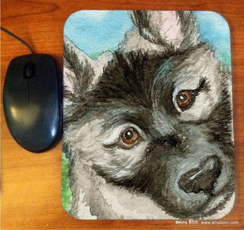 """""""Puppy"""" Norwegian Elkhound Mouse Pad"""