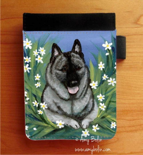 """""""Daisies 1"""" Norwegian Elkhound Notebooks (several sizes available)"""