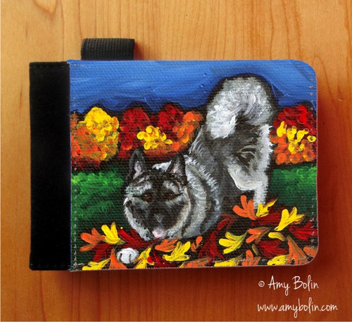 """Autumn's Simple Pleasures"" Norwegian Elkhound Notebooks (several sizes available)"