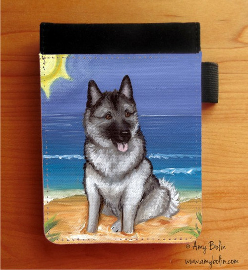 """Beach Bum"" Norwegian Elkhound Notebooks (several sizes available)"