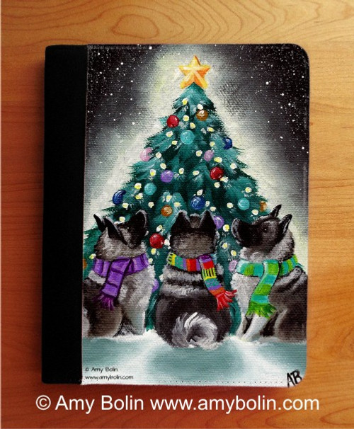 NOTEBOOKS (SEVERAL SIZES AVAILABLE) · CHRISTMAS TOGETHER · NORWEGIAN ELKHOUND · AMY BOLIN