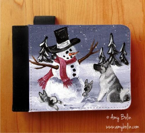 """Hide & Seek"" Norwegian Elkhound Notebooks (several sizes available)"