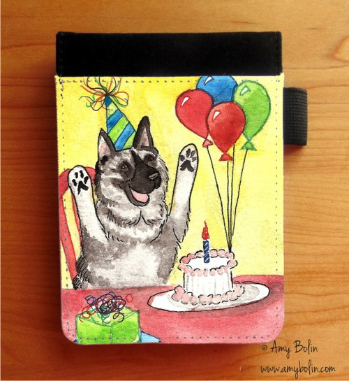 """""""It's My Party"""" Norwegian Elkhound Notebooks (several sizes available)"""