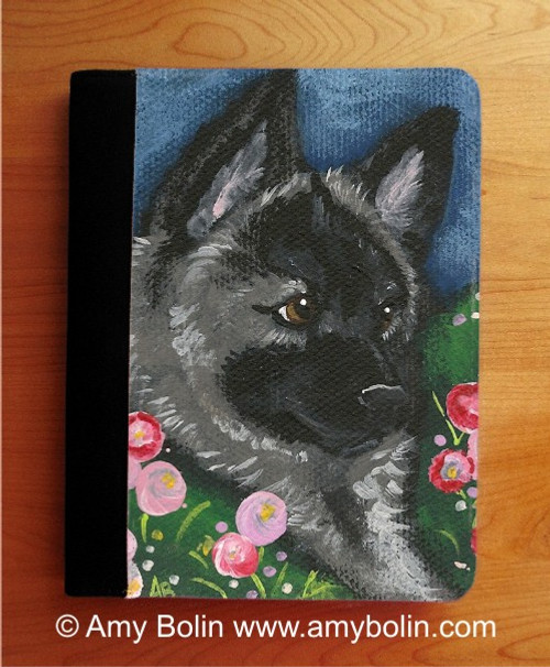 """""""Mom's Favorite Flower"""" Norwegian Elkhound Notebooks (several sizes available)"""
