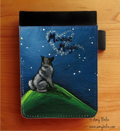 """""""Moose Magic"""" Norwegian Elkhound Notebooks (several sizes available)"""