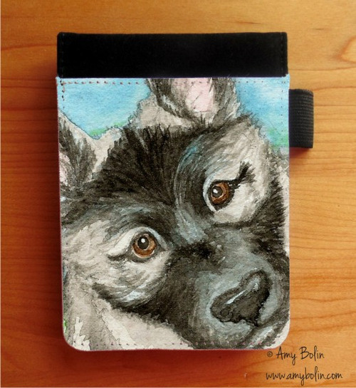 """""""Puppy"""" Norwegian Elkhound Notebooks (several sizes available)"""