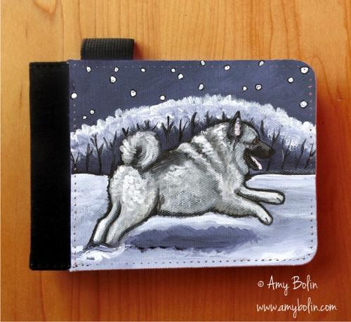 """Winter Wonderland"" Norwegian Elkhound Notebooks (several sizes available)"