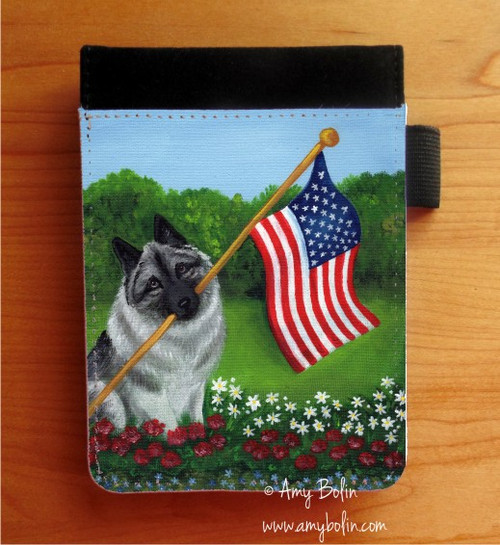 """""""Proud To Be American"""" Norwegian Elkhound Notebooks (several sizes available)"""