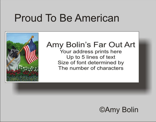 """Proud To Be American"" Norwegian Elkhound Address Labels"