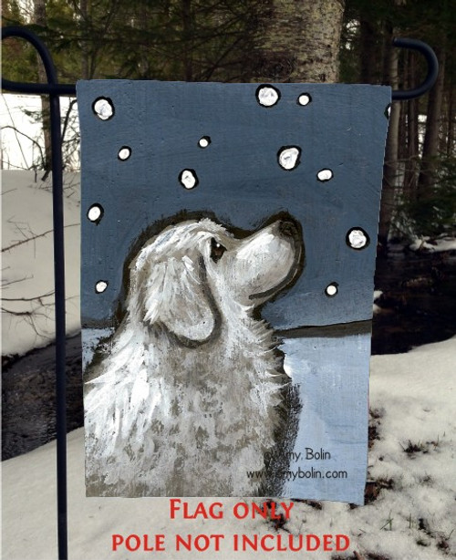 GARDEN FLAG · COUNTING SNOWFLAKES · GREAT PYRENEES · AMY BOLIN