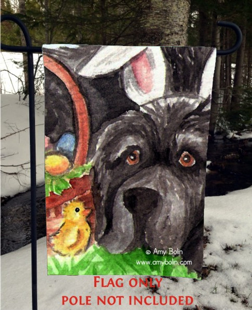 GARDEN FLAG · EASTER NEWF · BLACK NEWFOUNDLAND · AMY BOLIN