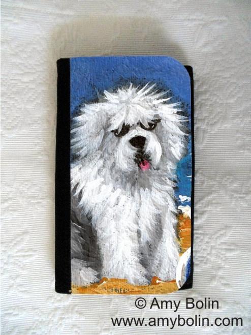"""Beach Bum"" Old English Sheepdog Large Organizer Wallet"