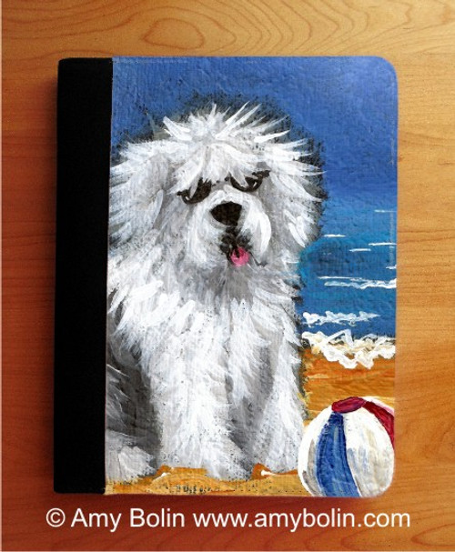 """Beach Bum"" Old English Sheepdog Notebooks (several sizes available)"