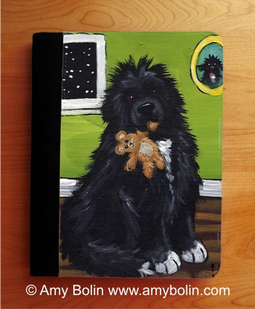 """Bedtime Buddies"" Irish Spotted Newfoundland Notebooks (several sizes available)"