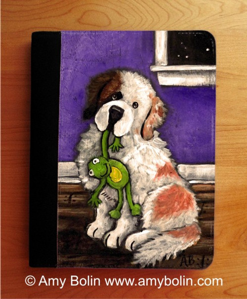 """Bedtime Buddies"" Half Mask Saint Bernard Notebooks (several sizes available)"