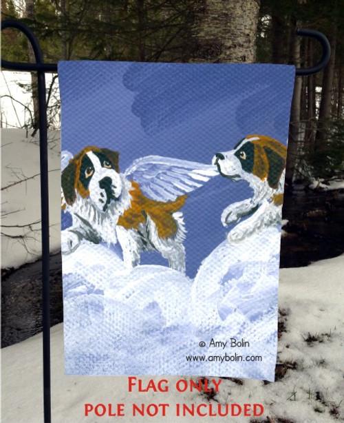 GARDEN FLAG · LITTLE ANGELS · SAINT BERNARD · AMY BOLIN