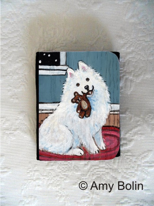 SMALL ORGANIZER WALLET · BEDTIME BUDDIES · SAMOYED · AMY BOLIN