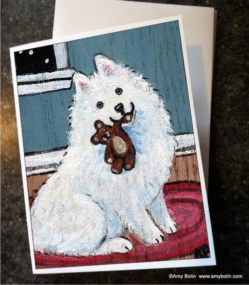 """""""Bedtime Buddies"""" Samoyed Note Cards"""